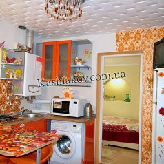 Вид кухни квартиры в Ялте