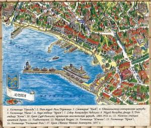 Карта Ялты - центр