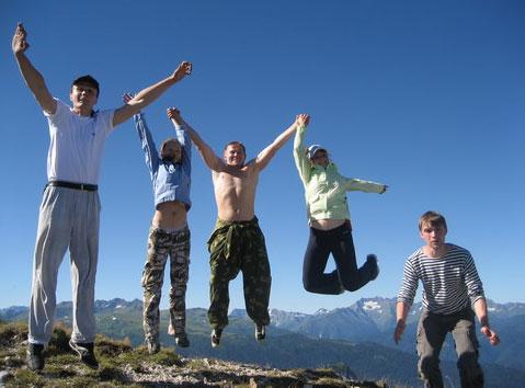 Мы добрались на вершину Крымских гор